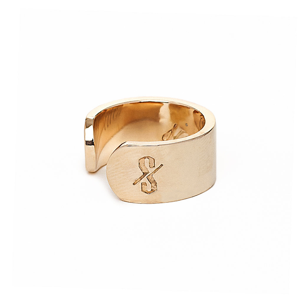 Adjustable 18-Karat Gold Sinner and Saint Ring
