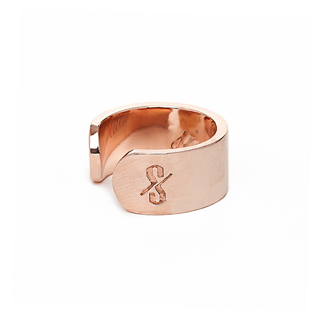 Adjustable Rose Gold Sinner and Saint Ring