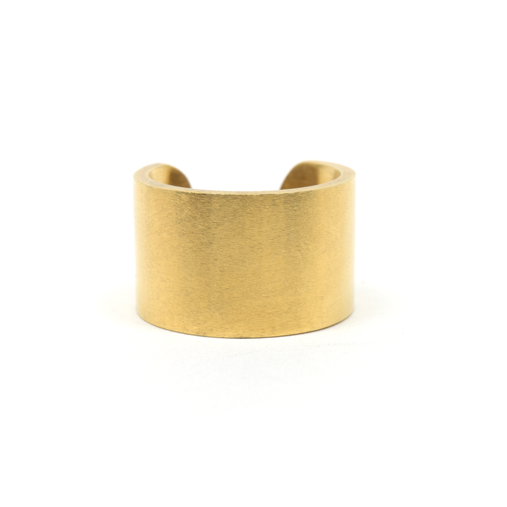 PROMISCUOUS RING: Matte 18-Karat Gold