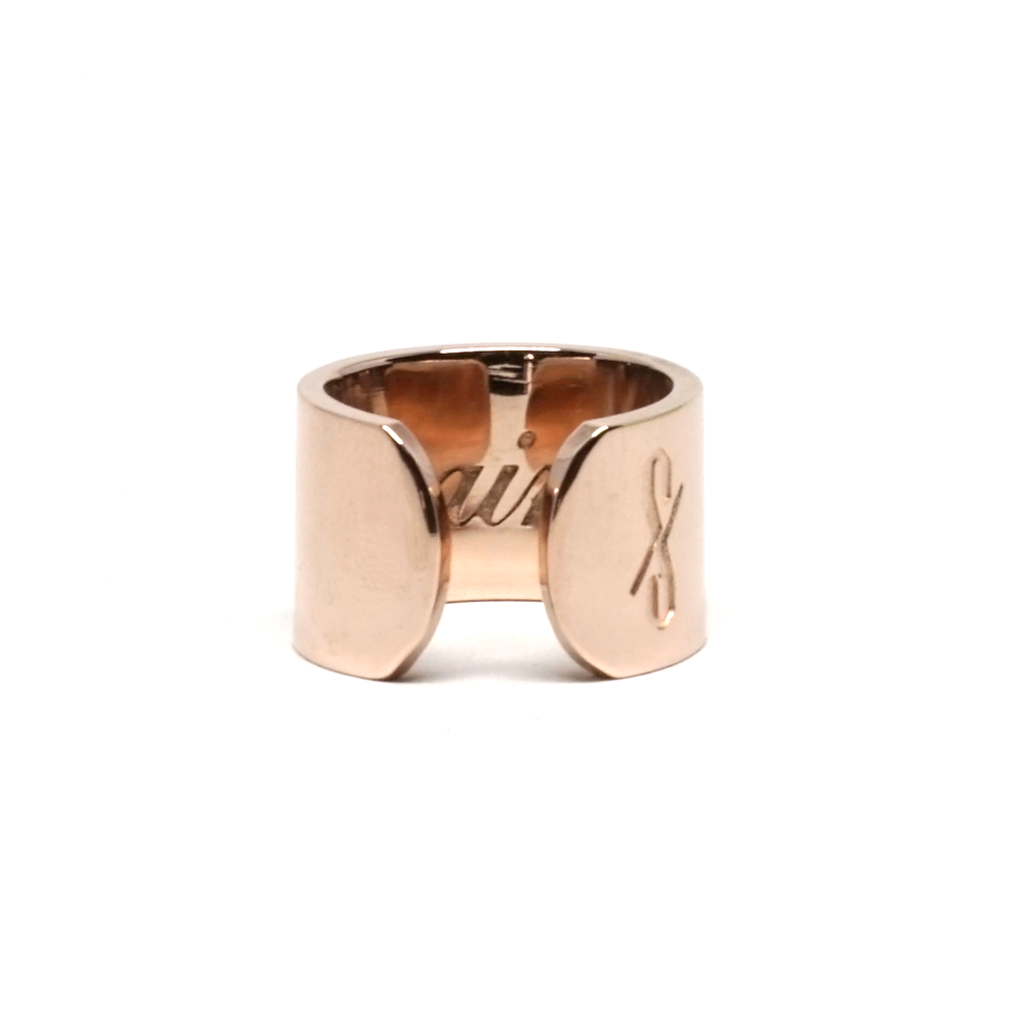 TALL SAINT RING: Rose Gold