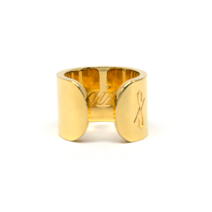 TALL SAINT RING: 18-KARAT GOLD