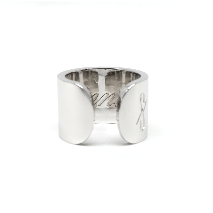 TALL SINNER RING: Rhodium