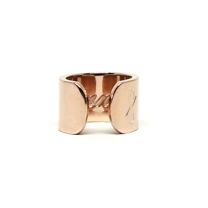 TALL SINNER RING: Rose Gold