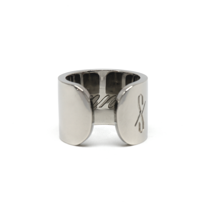 TALL SINNER RING: Gunmetal
