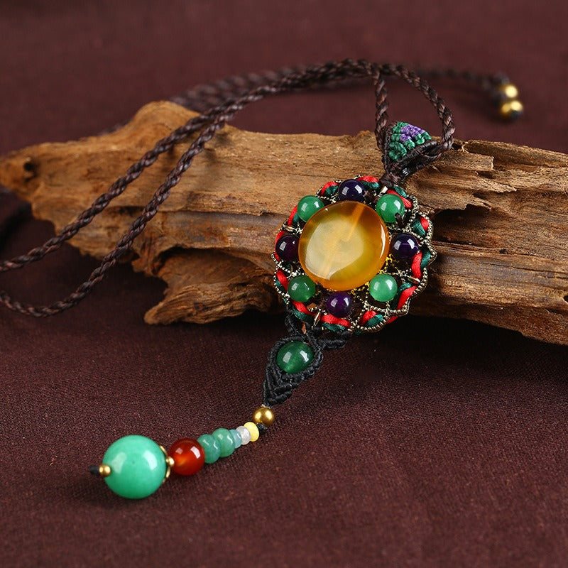 Ethnic Weaving Sweater Necklace