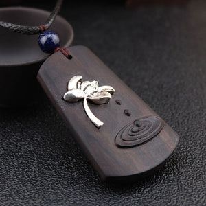 Ethnic Ebony Wood Necklace