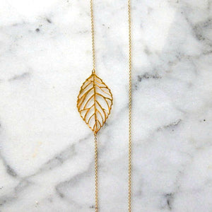 Elegant Gold Silver Hollow Leaf Pendant Necklaces for Women