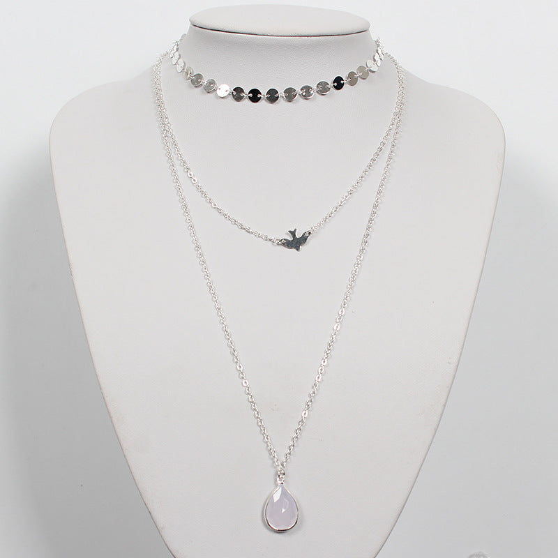 Peace Pigeon Multi-layer Necklace