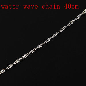 Multi-styles 925 Sterling Silver Link Chain Lobster Clasp Necklace