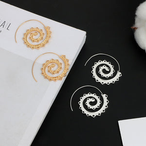 Retro Spiral Heart-Shaped Earrings