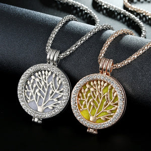 Vintage Life Tree Fragrance Necklace