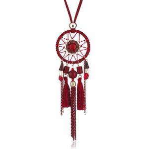Ethnic Tassels Pendant  Chain Charm Necklace Vintage Jewelry