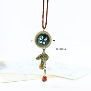 Ethnic Handmade Beads Pendant Irregular Necklace For Women