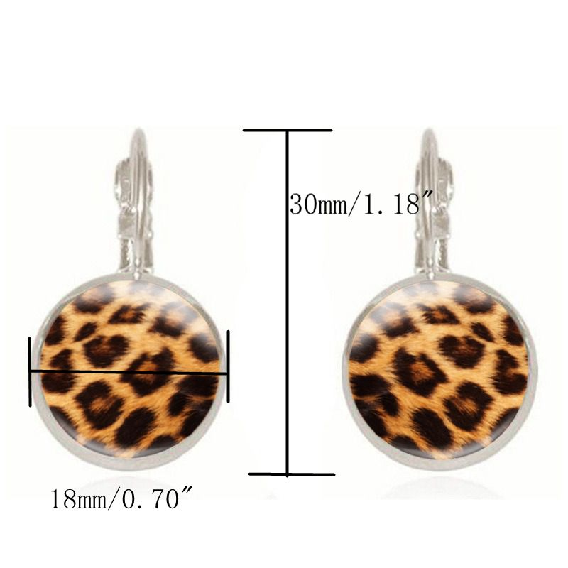 Retro Leopard Print Ear Drop Earrings