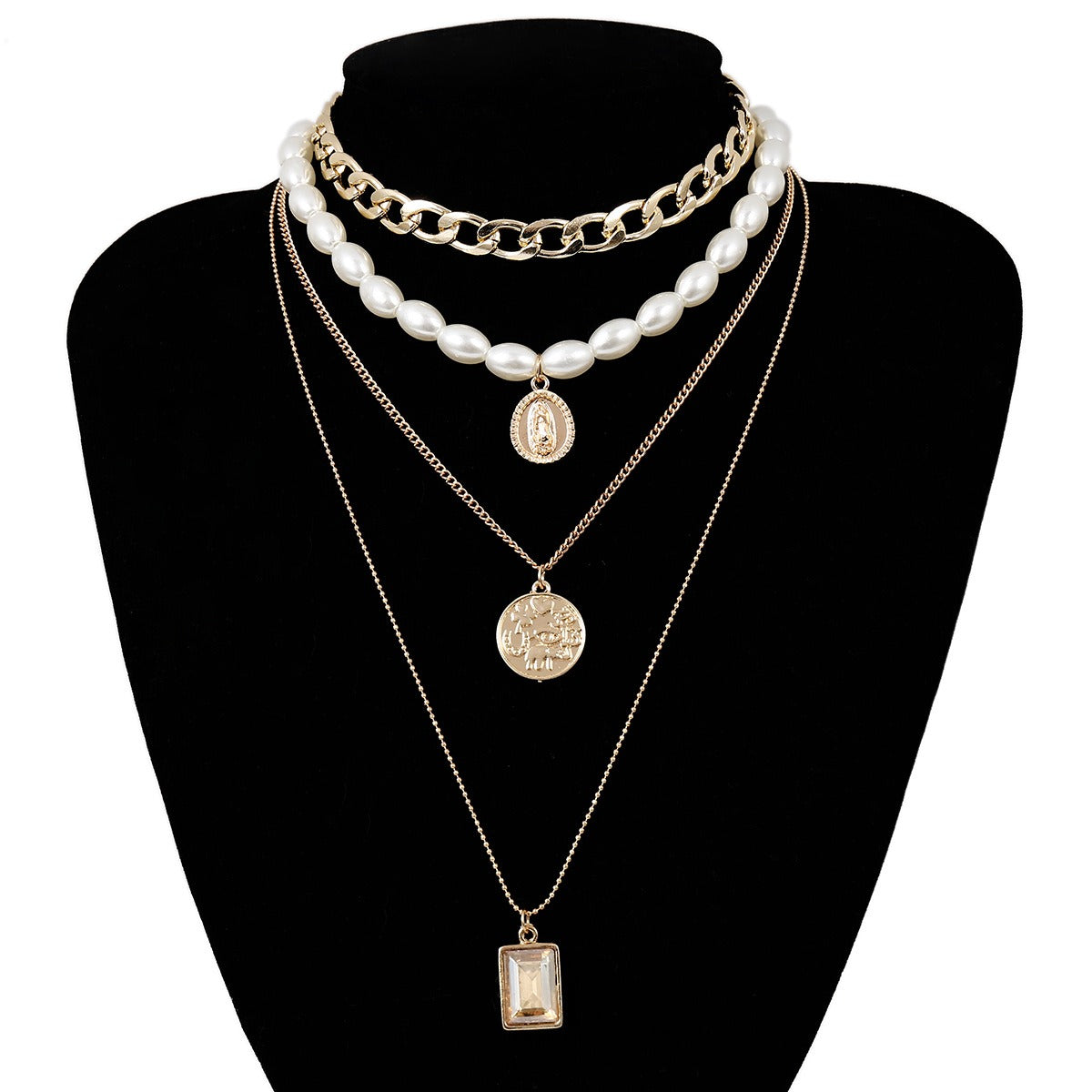 Vintage Coins Tassels Multi-layer Necklace