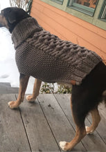 "Load image into Gallery viewer, ""The Original"" Honeycomb Cable Knit Dog Sweater Acrylic"