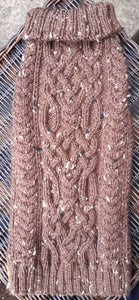 """The Stag Moat"" Traditional Aran Twist Cable Sweater"