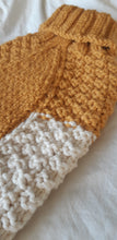 Load image into Gallery viewer, Colour Block Wool Waffle Knit in Mustard & Cream