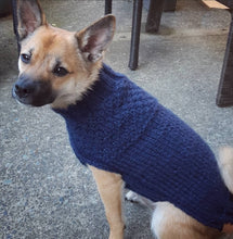 Load image into Gallery viewer, The Double Dutch Gansey Dog Sweater