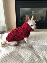 "Load image into Gallery viewer, ""The Original"" Honeycomb Cable Knit Dog Sweater XS-S"