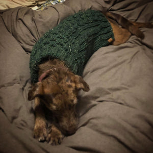 """The Original"" Honeycomb Cable Knit Dog Sweater Acrylic"