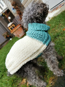 The Cupcake Collection Colorblock Gansey Dog Sweater