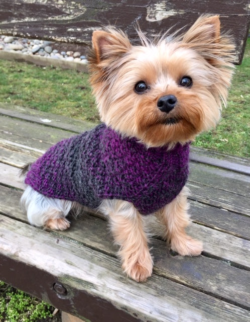 Violet Ombre Luxury Wool Dog Sweater