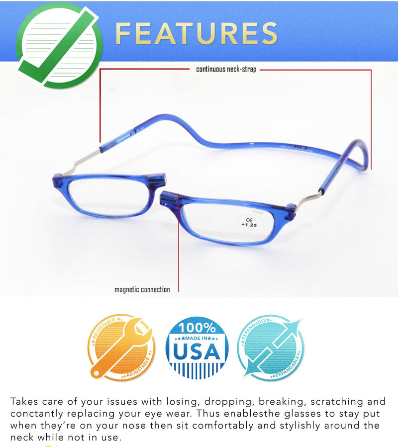CLIC Magnetic Manhattan Flex | READING GLASSES