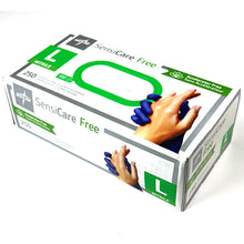 Load image into Gallery viewer, Sensicare Accelerator-Free Powder-Free Nitrile Gloves (Blue)