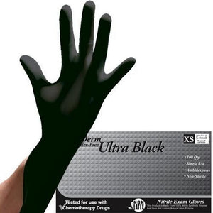 Nutriderm Ultra Black Powder Free Nitrile Glove (Black)