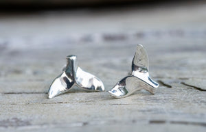 Whale Tail Stud Earrings
