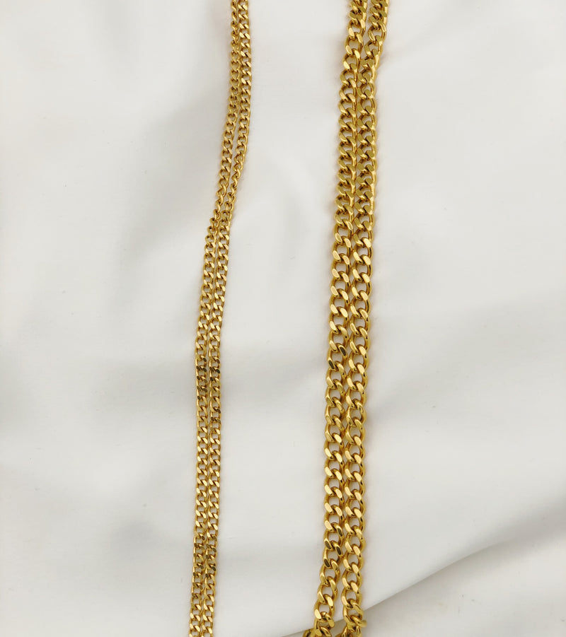The Harper chain 18k gold plated