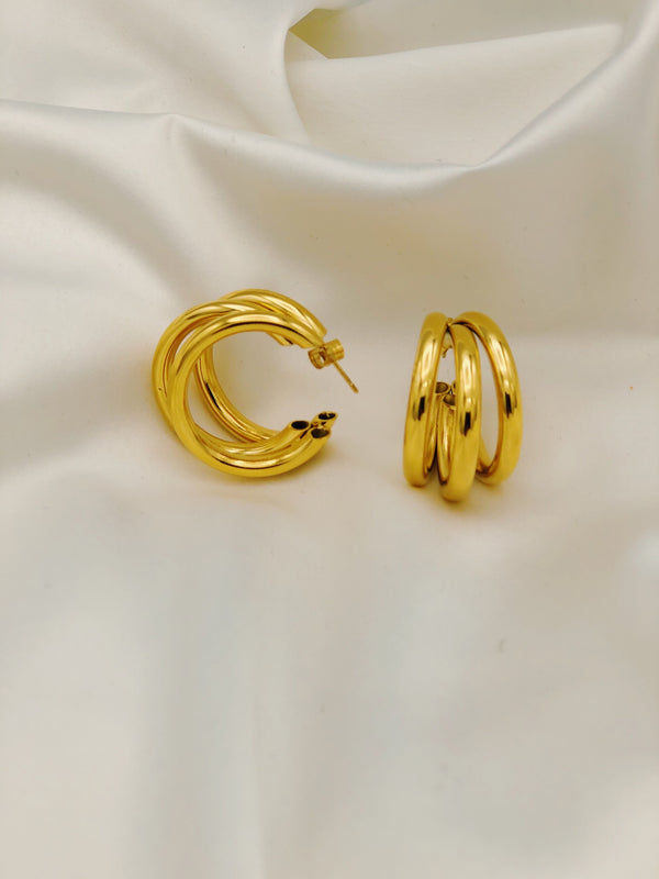 Joy Hoops - 18k Gold Plated