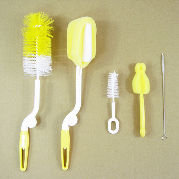 Bottle Brush Sponge Plastic Glass