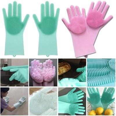 Magic Dishwashing Latex Gloves