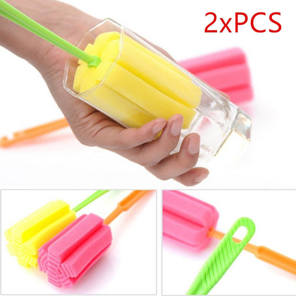 Handle Sponge Brush Bottle Cup