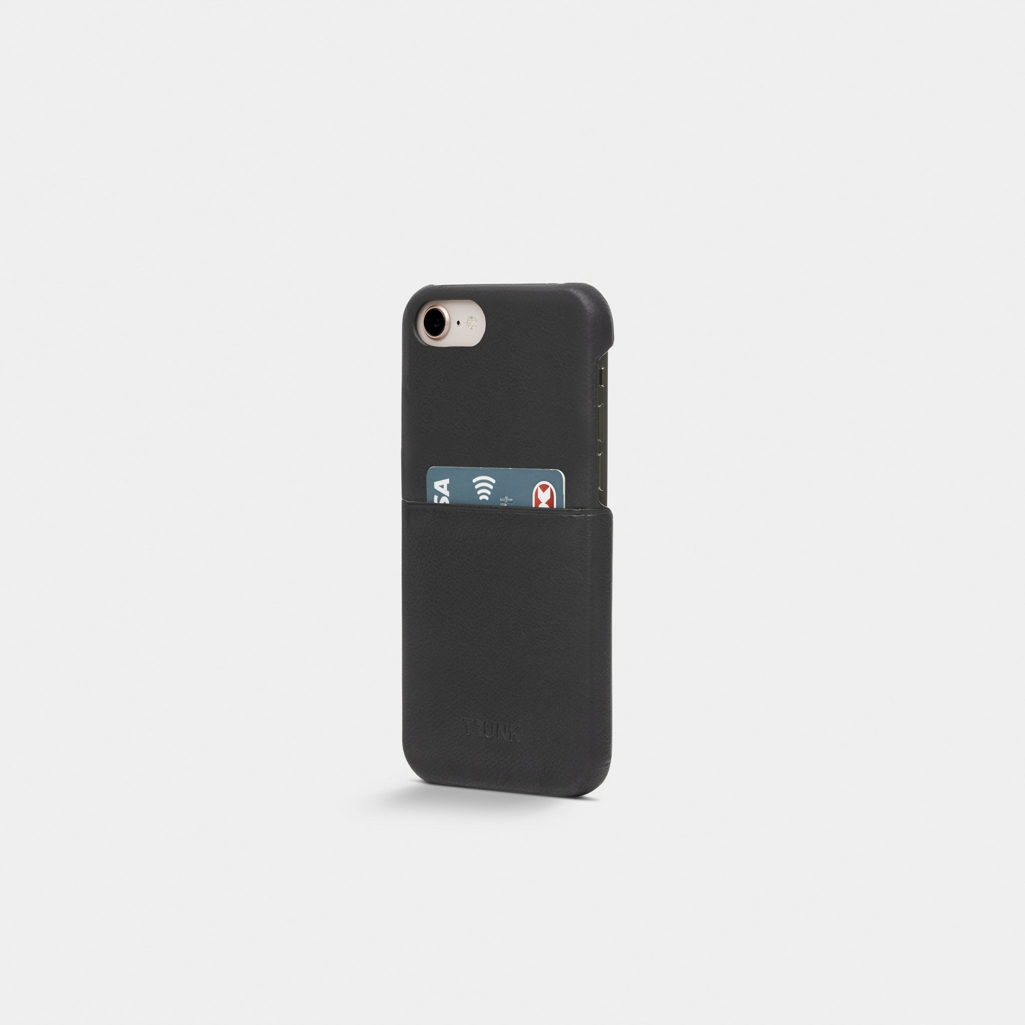 Black Leather iPhone Cover - iPhone 6, 7, 8 - Neoprene