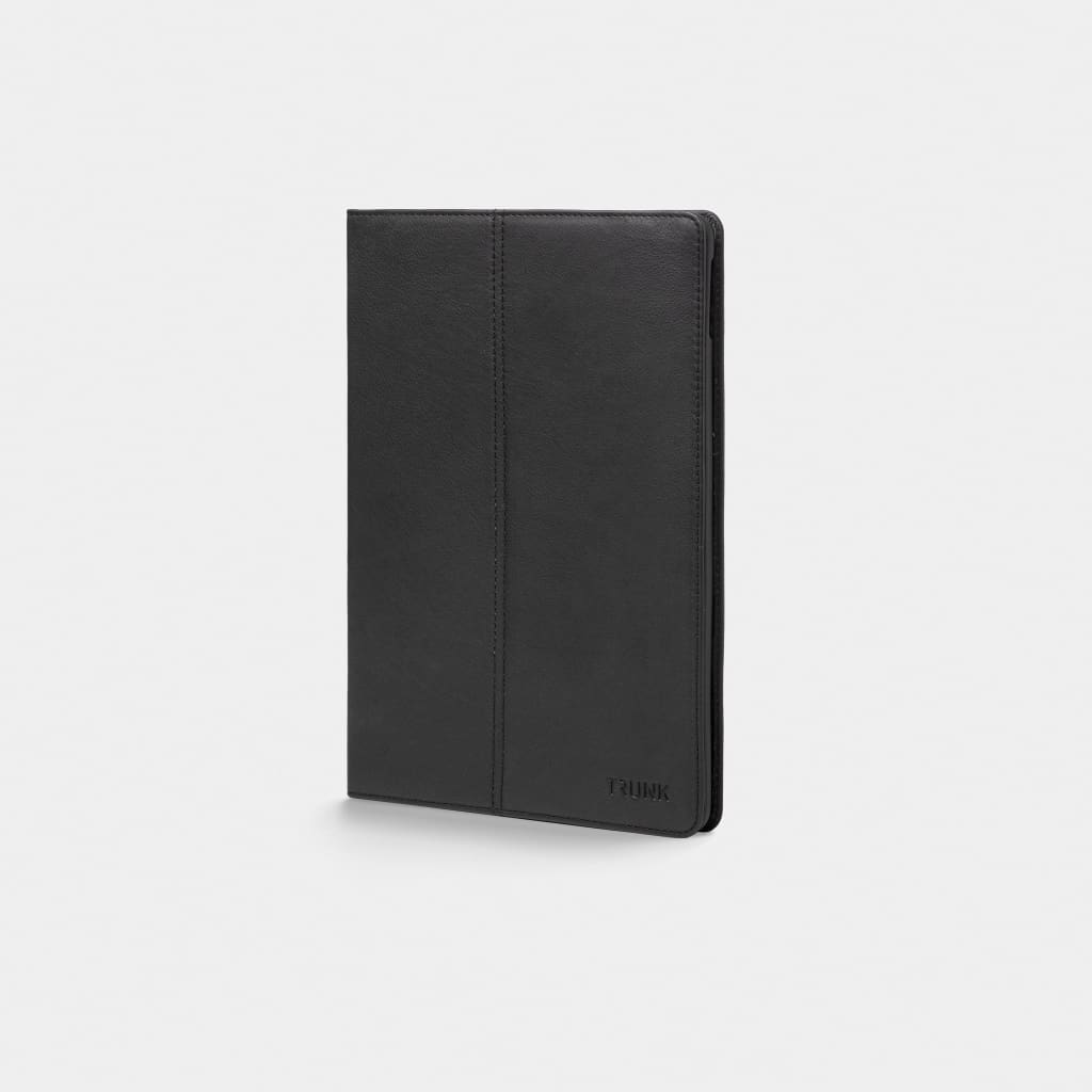 Black Leather iPad Cover - Neoprene Sleeve