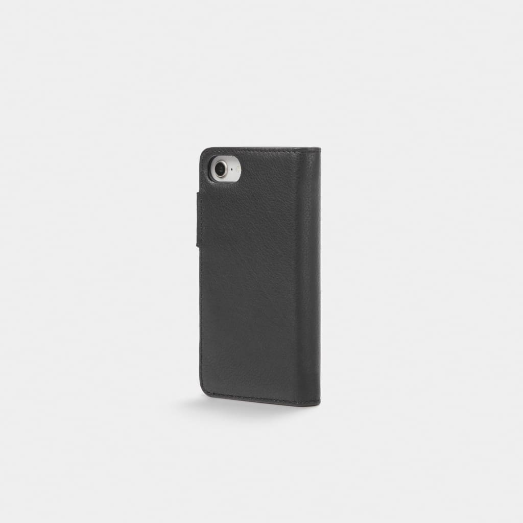 Black Leather iPhone Wallet Case - iPhone 6, 7, 8 - Neoprene