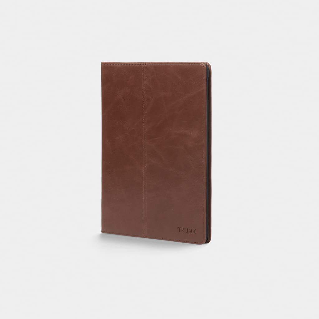 Brown Leather iPad Cover - Neoprene Sleeve