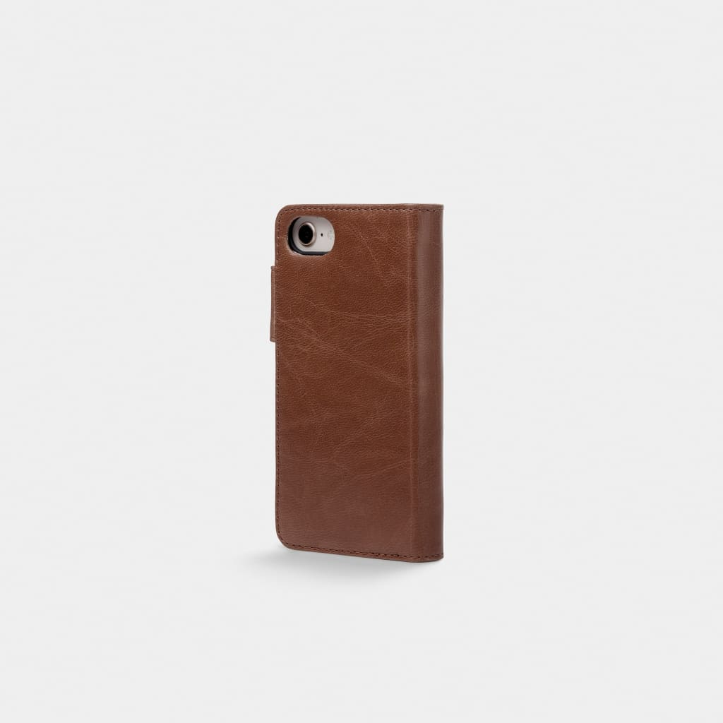 Brown Leather iPhone Wallet Case - iPhone 6, 7, 8 - iPhone
