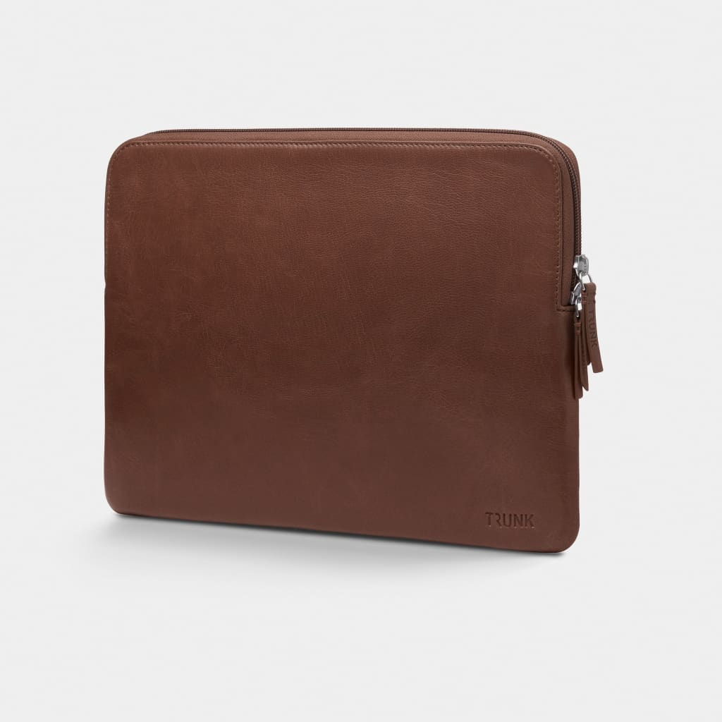 Brown Leather - Leather Sleeve