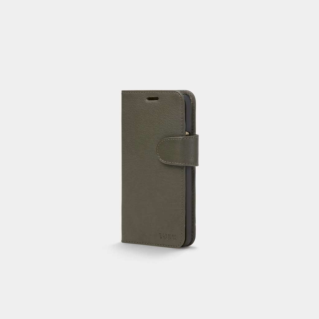 Green Leather iPhone Wallet Case