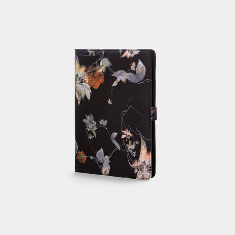 Black Flower Universal Tablet