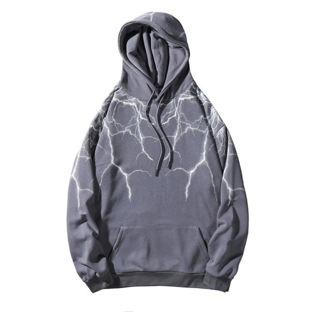 Lightning Hoodie Outwear - Visual Streetwear