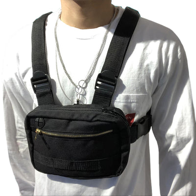 Hip-Hop Chest Bag - Visual Streetwear
