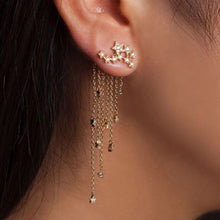 Load image into Gallery viewer, Crystal Flower Drop Earrings