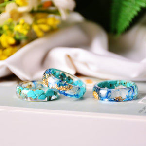 Handmade Dried Flower Rings