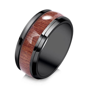 wood grain silicone ring