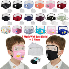 Load image into Gallery viewer, Child's Protective Face Mask with Eyes Shield